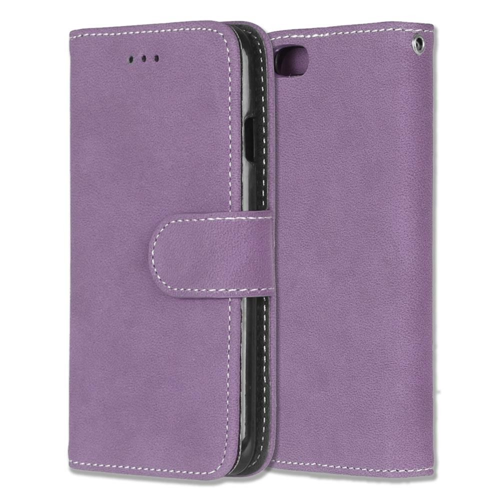 Luxusní flipové peněženkové pouzdro VINTAGE pro Lenovo P70 - fialové