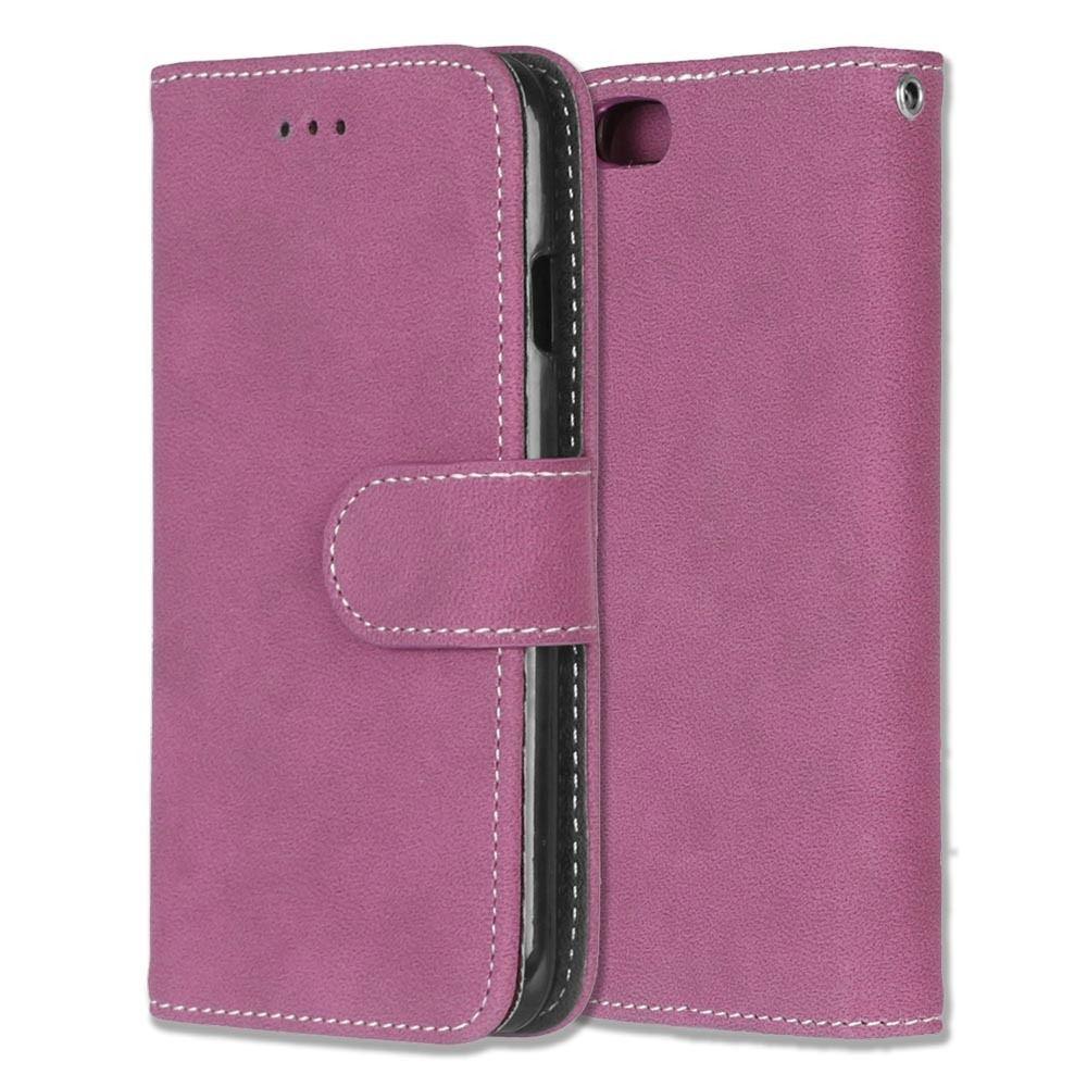 Luxusní flipové peněženkové pouzdro VINTAGE pro Lenovo P70 - růžové