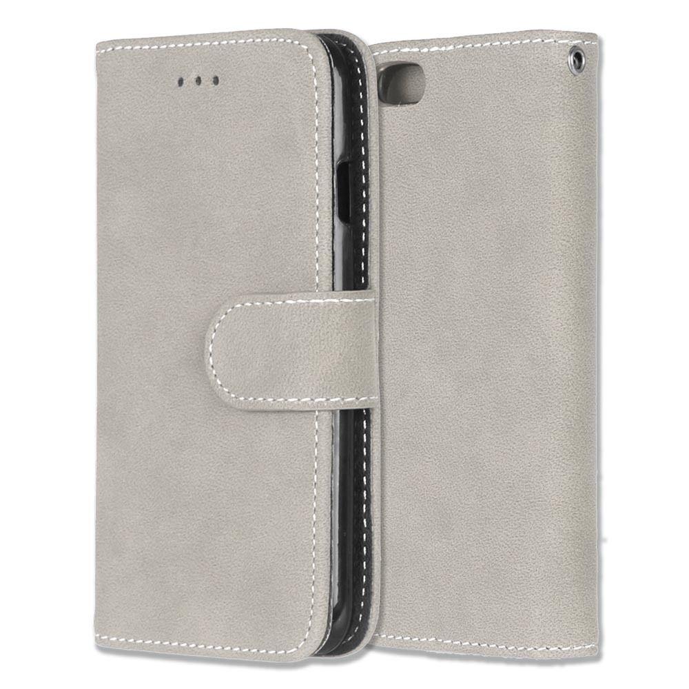 Luxusní flipové peněženkové pouzdro VINTAGE pro Lenovo P70 - šedé