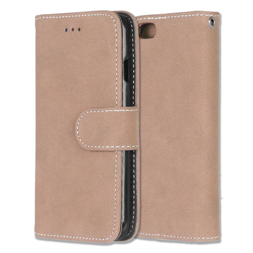Luxusní flipové peněženkové pouzdro VINTAGE pro Sony Xperia M4 Aqua - béžové