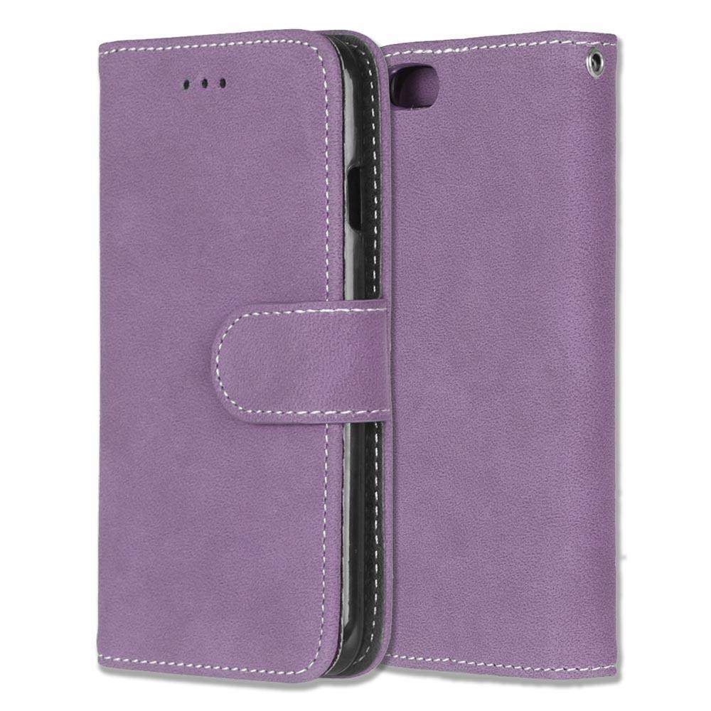 Luxusní flipové peněženkové pouzdro VINTAGE pro Sony Xperia Z3 - fialové