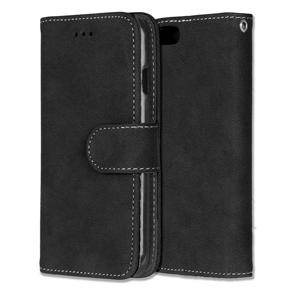 Luxusní flipové peněženkové pouzdro VINTAGE pro Sony Xperia Z5 Premium (E6853) - černé