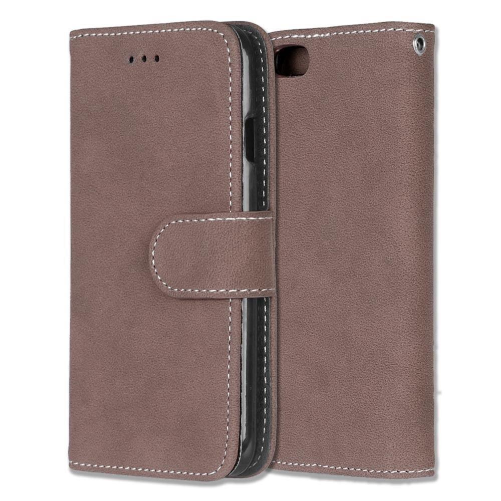 Luxusní flipové peněženkové pouzdro VINTAGE pro Sony Xperia Z5 Premium (E6853) - hnědé