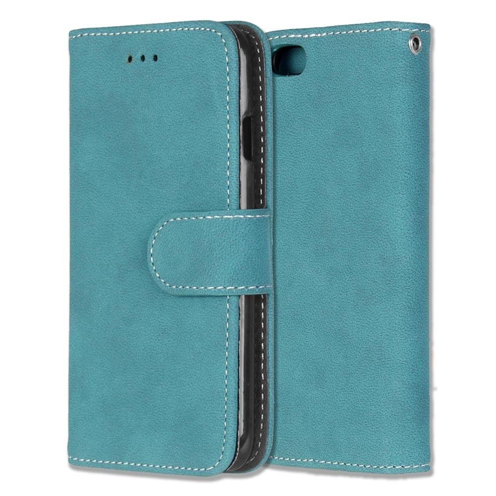 Luxusní flipové peněženkové pouzdro VINTAGE pro Sony Xperia Z5 Premium (E6853) - modré