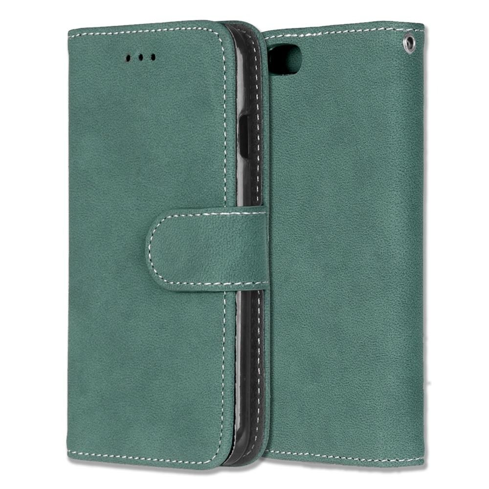 Luxusní flipové peněženkové pouzdro VINTAGE pro Sony Xperia Z5 Premium (E6853) - zelené