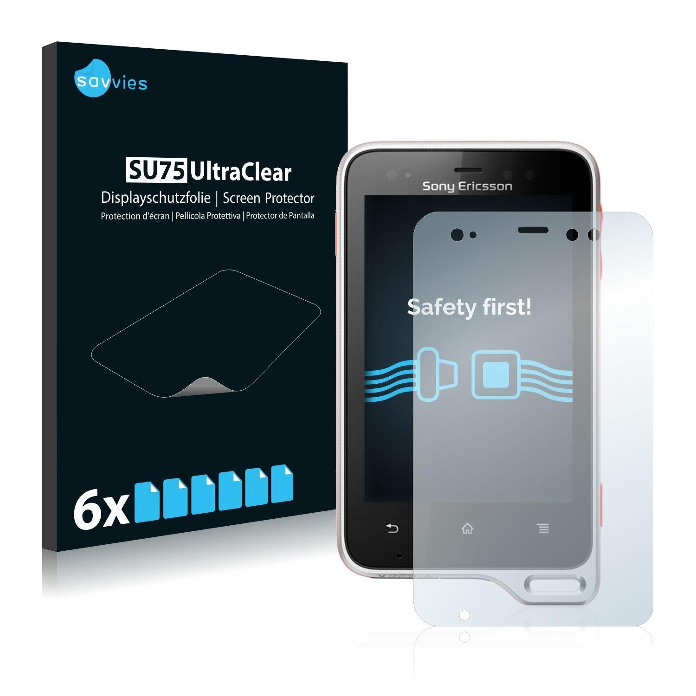 6 ks Ochranná fólie na LCD displej pro Sony Ericsson Xperia Active ST17i