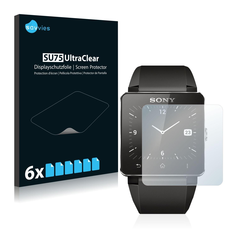 6 ks Ochranná fólie na LCD displej pro Sony Smartwatch 2