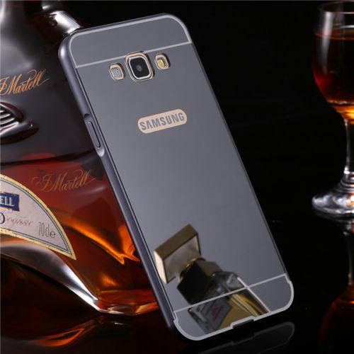 Luxusní kovové zrcadlové pouzdro pro Samsung Galaxy Core Prime (G360) - černé