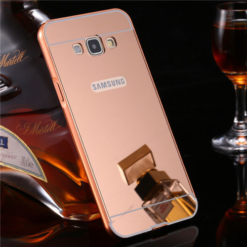 Luxusní kovové zrcadlové pouzdro pro Samsung Galaxy S6 Edge+ (SVI G928F) - růžové