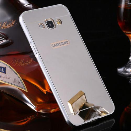 Luxusní kovové zrcadlové pouzdro pro Samsung Galaxy S6 Edge+ (SVI G928F) - stříbrné