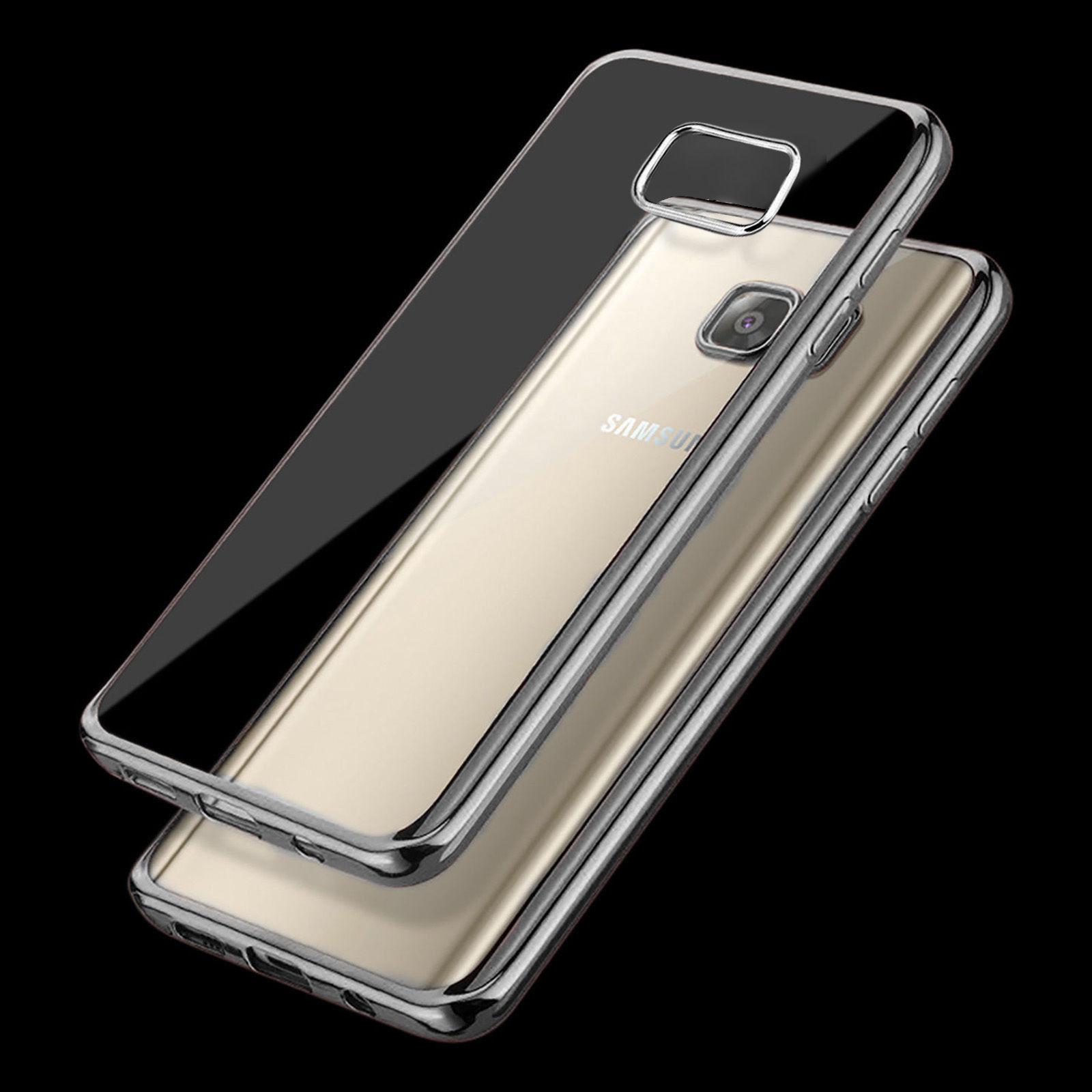 Ultra tenké gelové pouzdro s designovým rámečkem pro Samsung Galaxy S6 Edge+ (SVI G928F) - čer