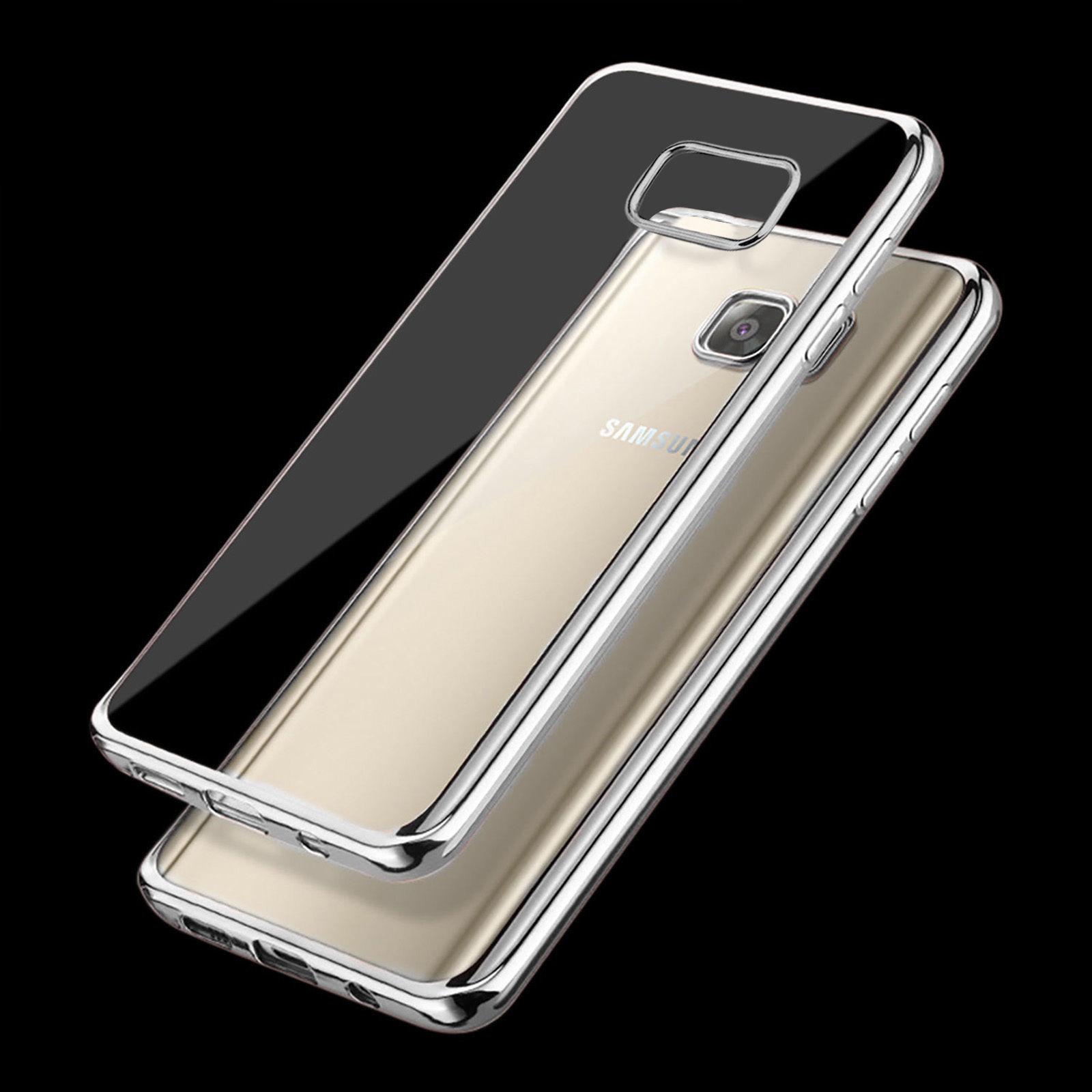 Ultra tenké gelové pouzdro s designovým rámečkem pro Samsung Galaxy S6 Edge+ (SVI G928F) - stř