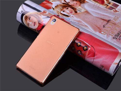 Ultra tenké pevné pouzdro pro Sony Xperia Z1 Compact (D5503) - oranžové
