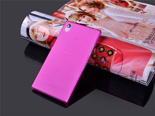 Ultra tenké pevné pouzdro pro Sony Xperia Z1 Compact (D5503) - růžové
