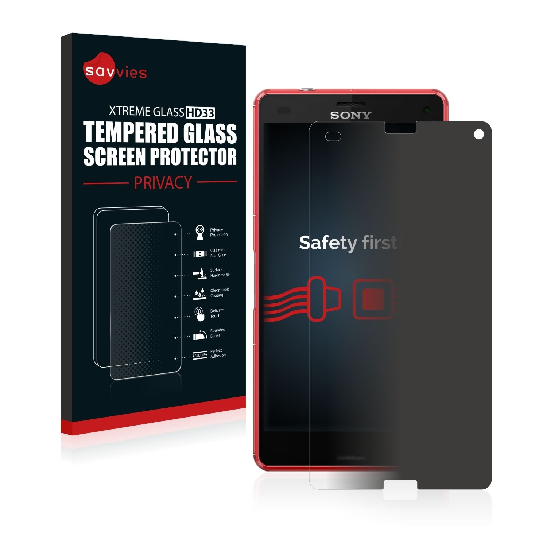 Zatmavené ochranné tvrzené temperované sklo HD33 na LCD displej pro Sony Xperia Z3 Compact D5803