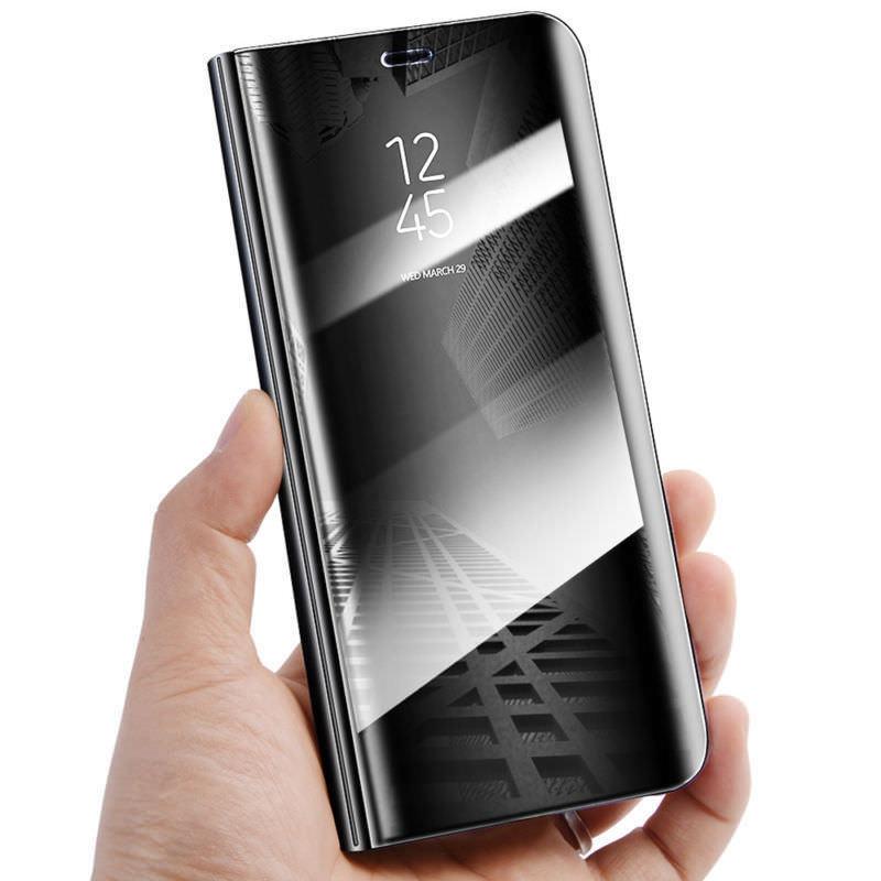 Zrcadlové flipové peněženkové pouzdro MIRROR pro Samsung Galaxy Note 5 Edge - černé