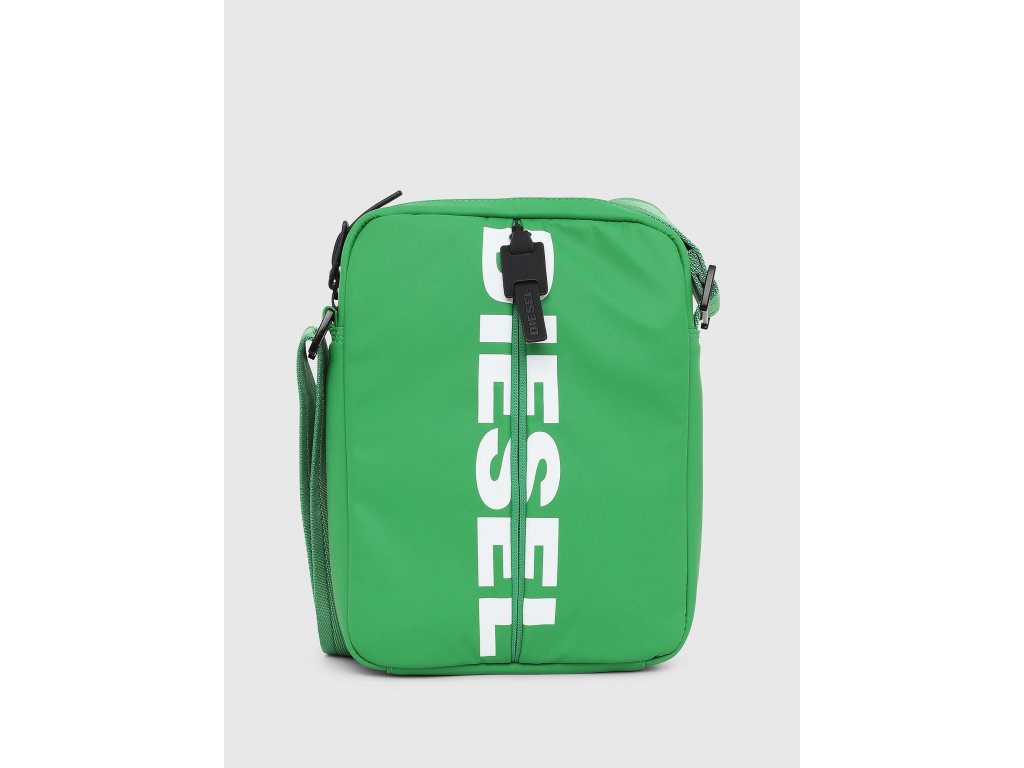 diesel Green F bold Small Cross Cross Body Bag With Rubber Pulls