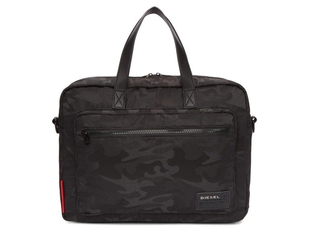 diesel Black Camo F Discover Briefcase