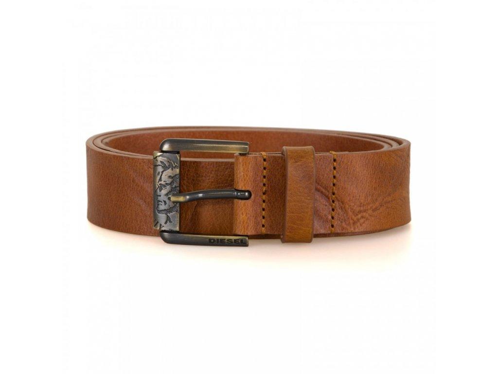 diesel mens b profilex leather belt tan p19120 80082 image
