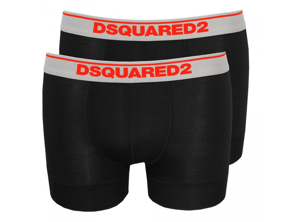 dsquared2 2 pack low rise boxer trunks in modal stretch black p9371 44705 zoom