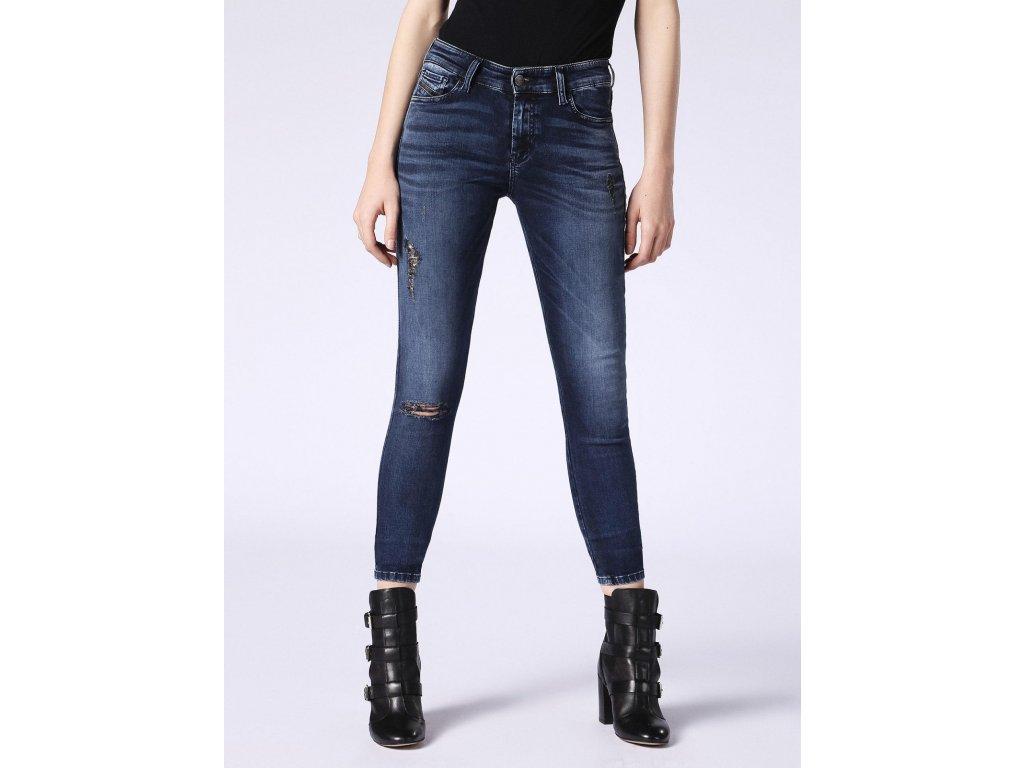 blue super skinny diesel slandy 0687t womens blue jeans 1