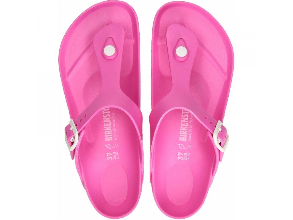 damske drevaky modni obuv birkenstock gizeh eva neon pink