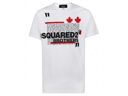 139 S74GD0811 S22427 100 WHITE DSQUARED T SHIRT 1