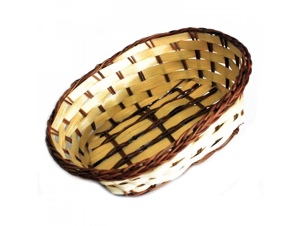 Košík bambusový Oválný 20cm