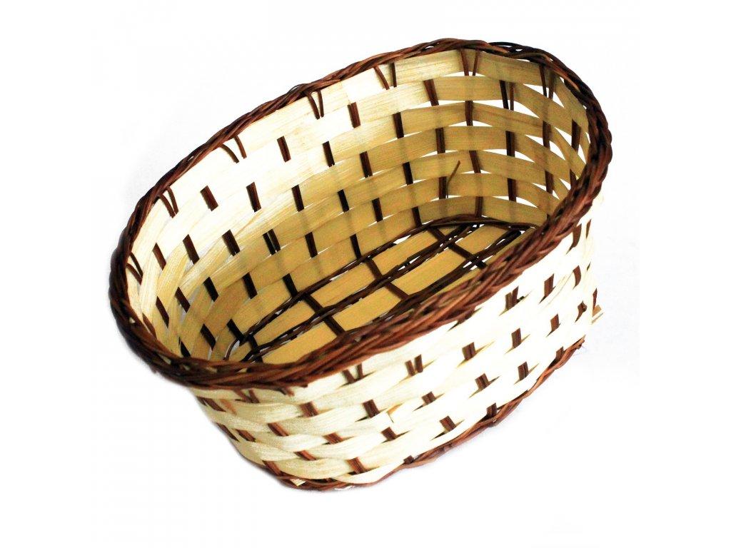 Košík bambusový Hluboký oválný 18cm