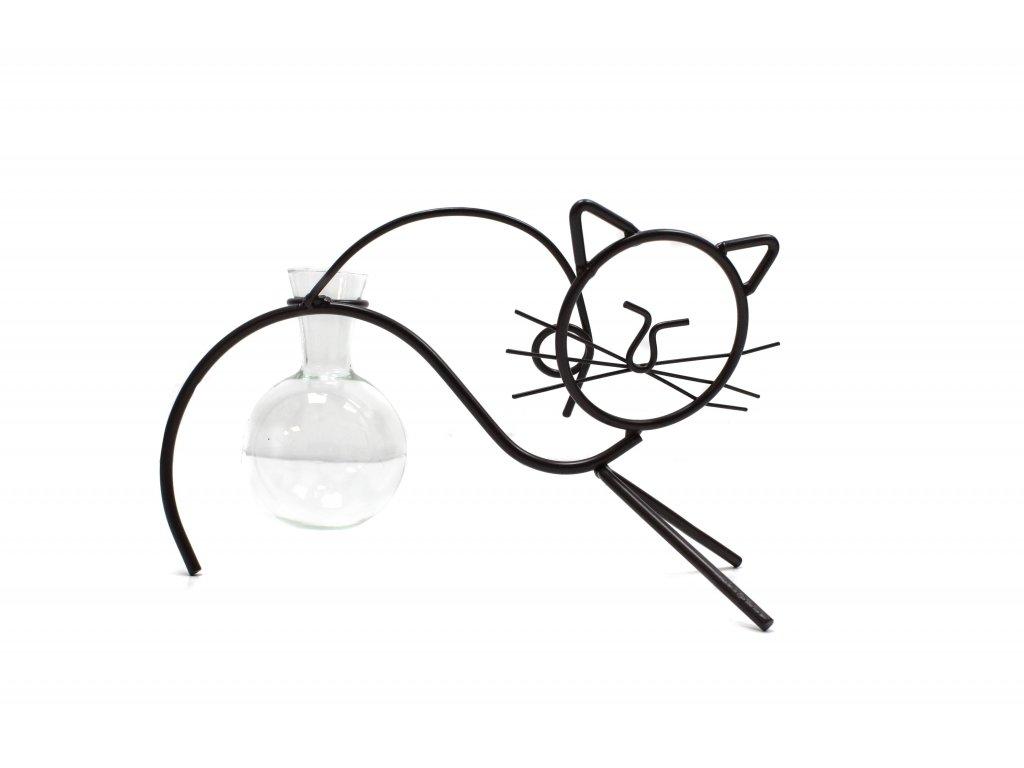 Hydroponický Dekorační Květináč Kočka