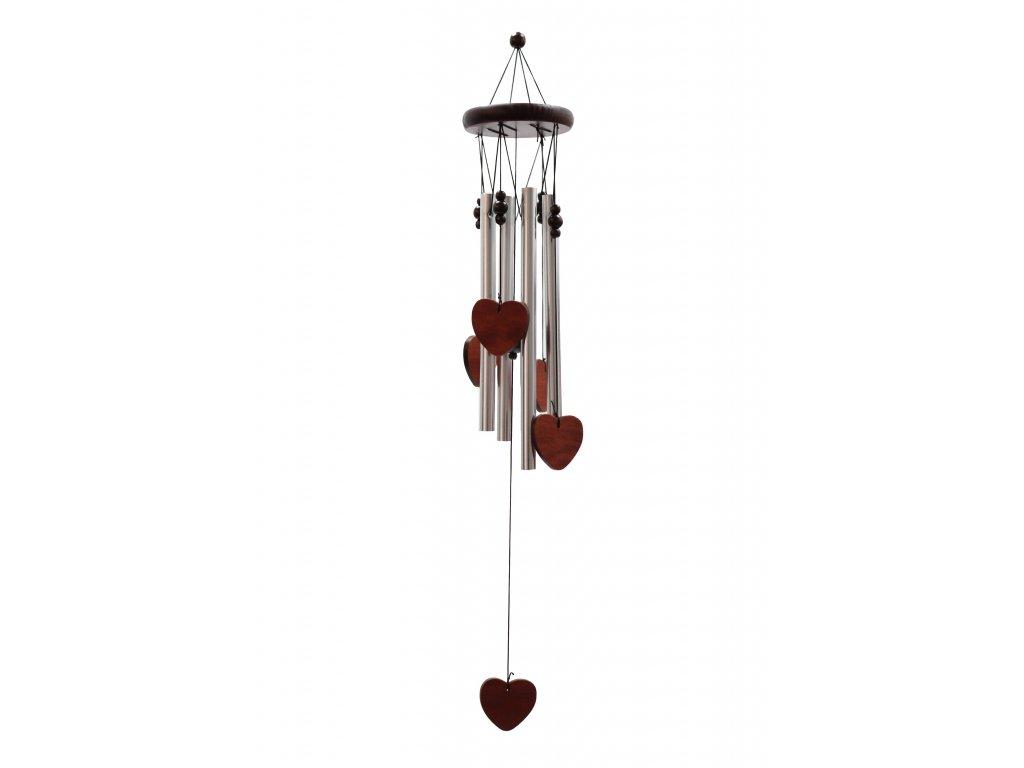 Klasická Kovově Dřevěná Zvonkohra Srdce