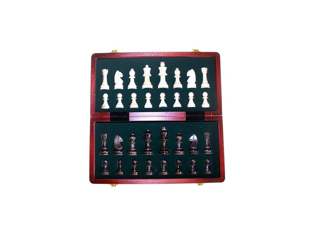 Dřevěná šachová sada 29cm