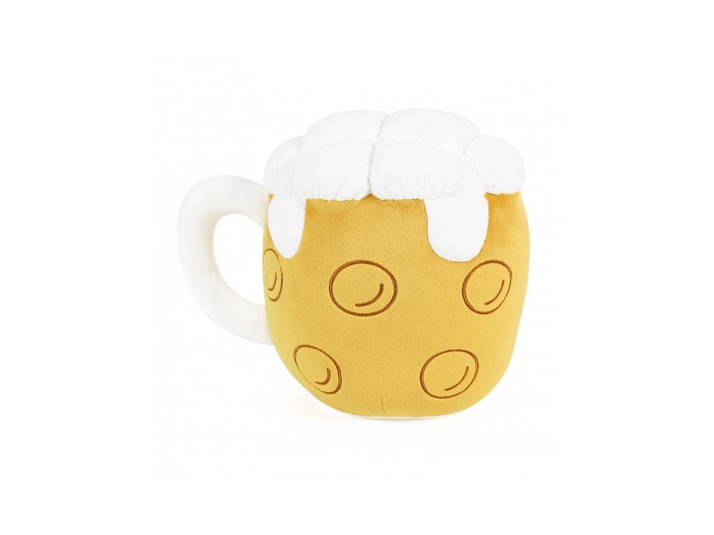 Plyšový polštář Pivo