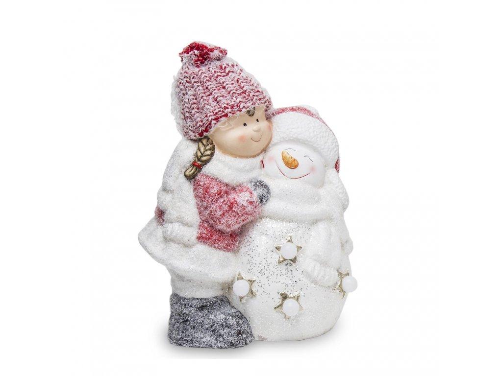 holka se sněhulákem 1