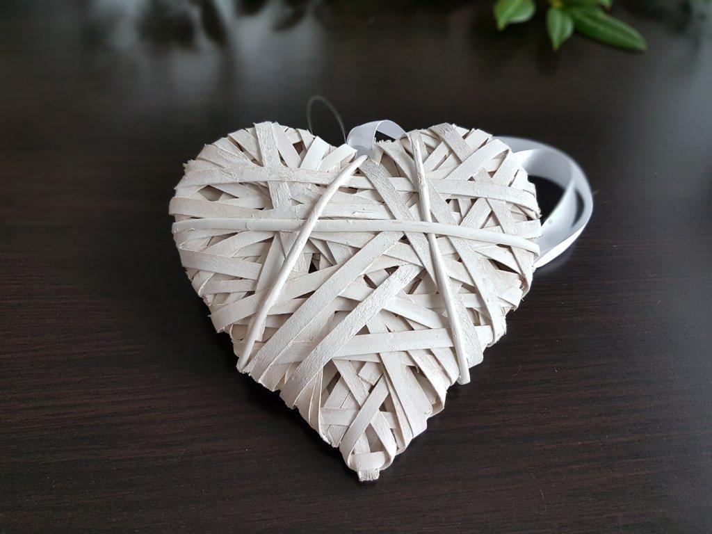 Srdce ratanové bílé