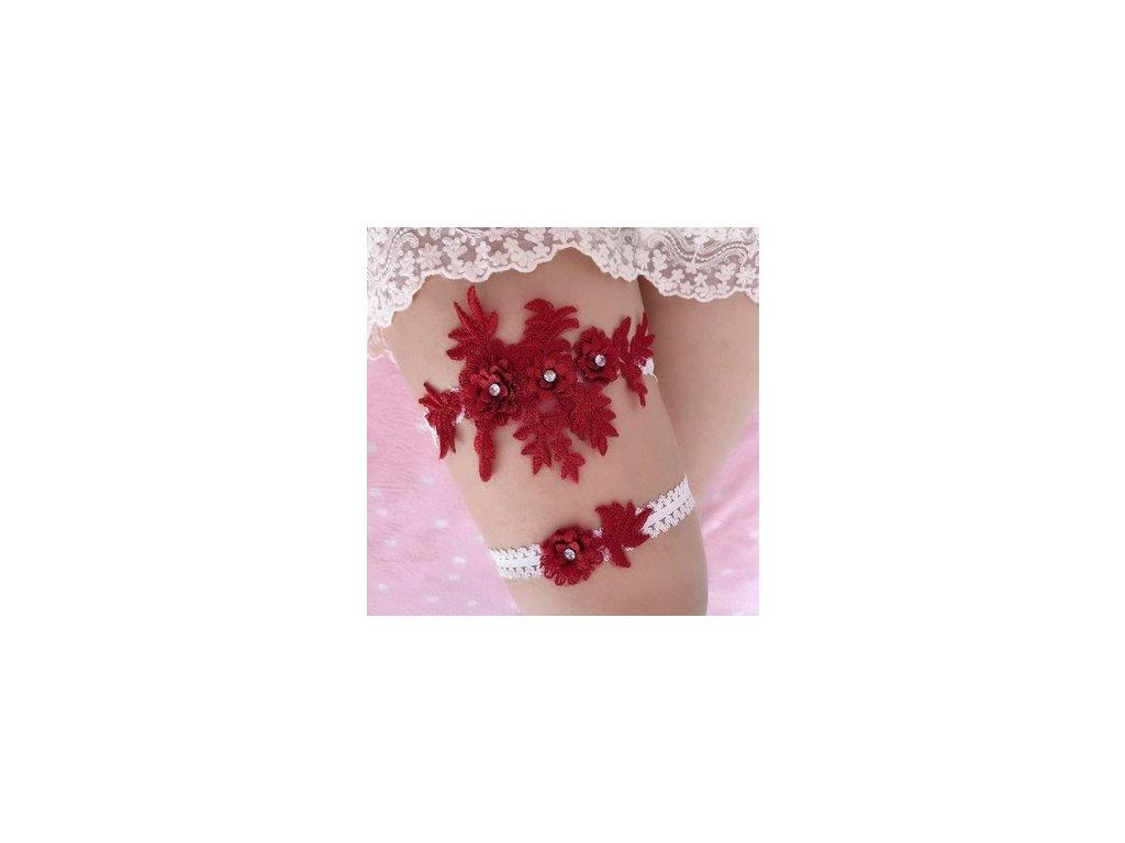 Kvetina červená s kamínky