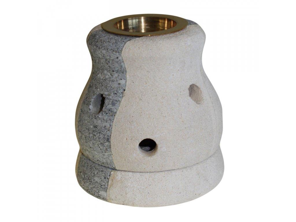 Kamenná Aroma Lampa Kombinovaná, Tvarovaná