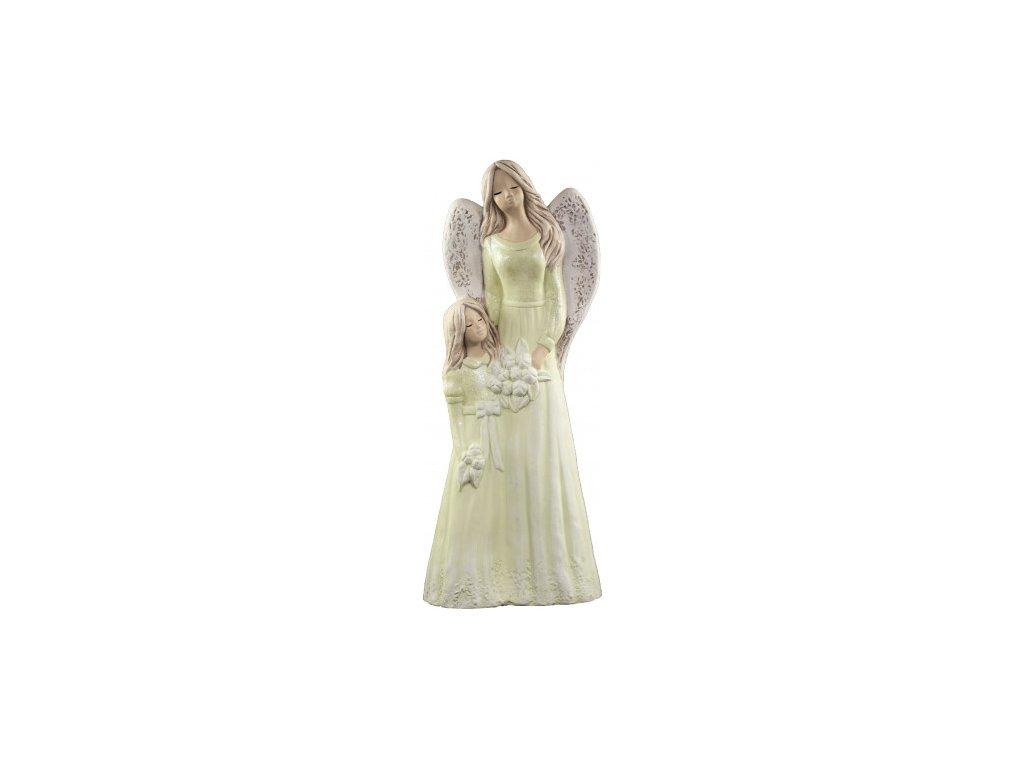 Anděl s holčičkou zelená