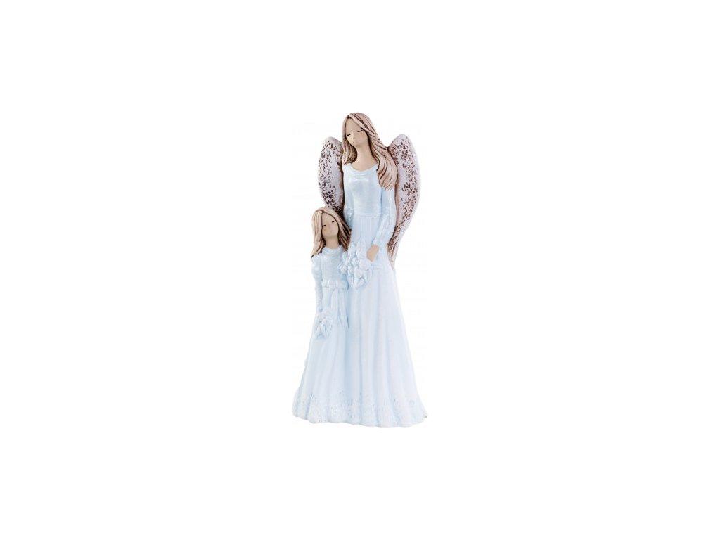 Anděl s holčičkou modrá