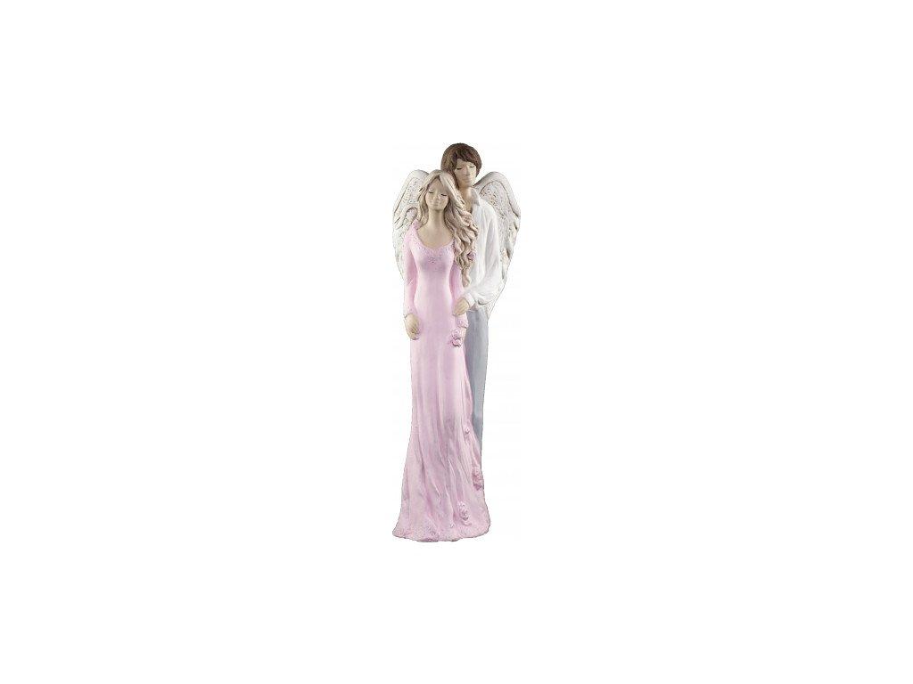 Anděl snoubenci růžový