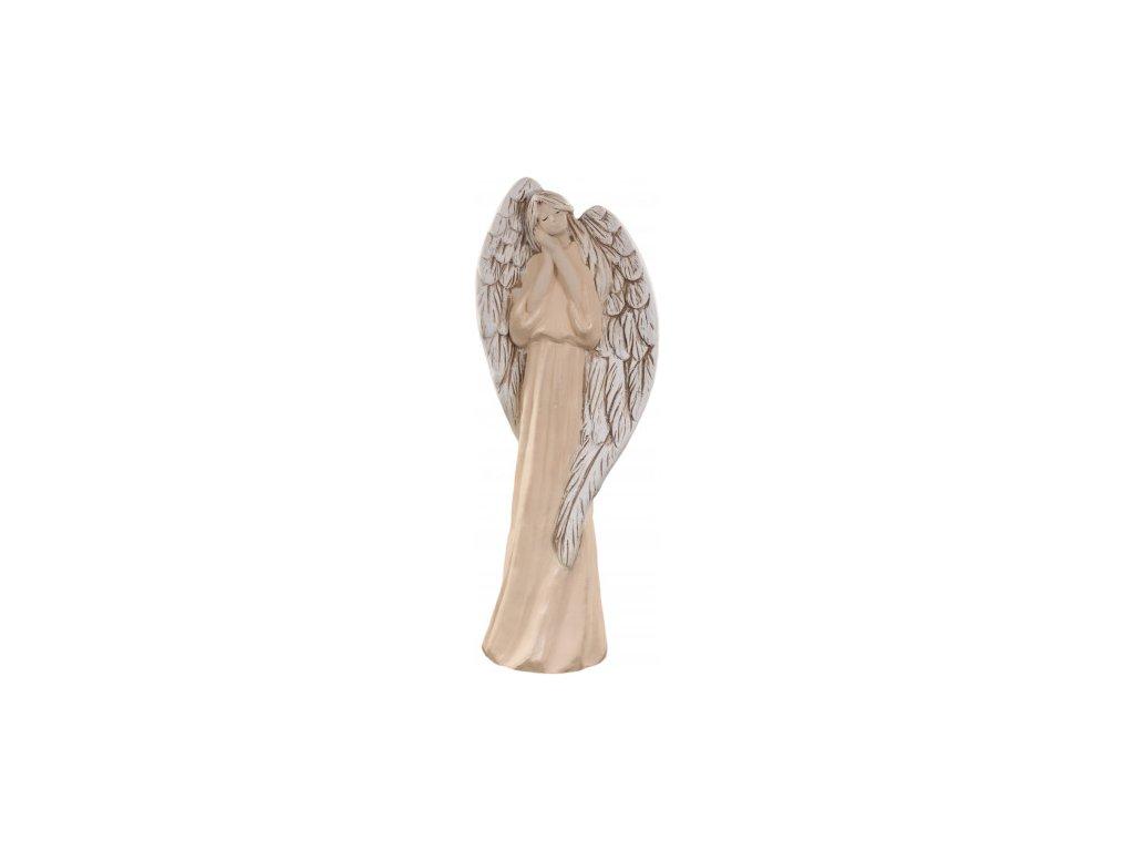 Anděl Agnes fialový