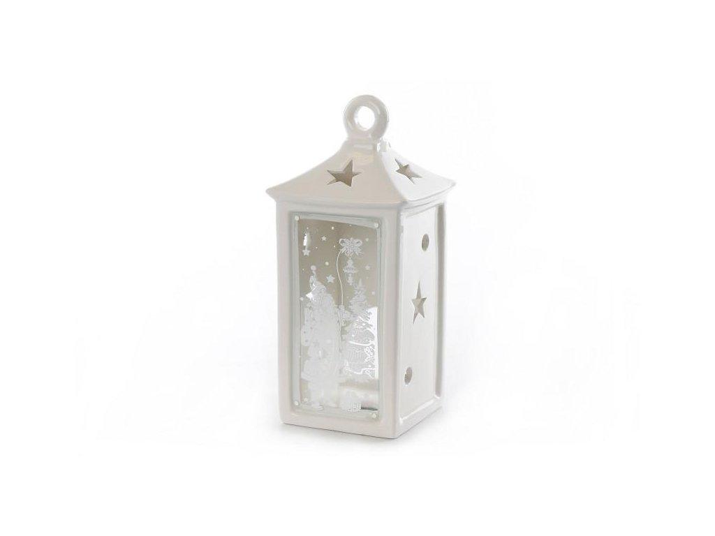 Vánoční keramická lucerna