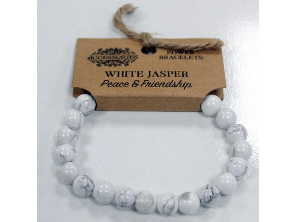 Energický Náramek Jaspis Bílý