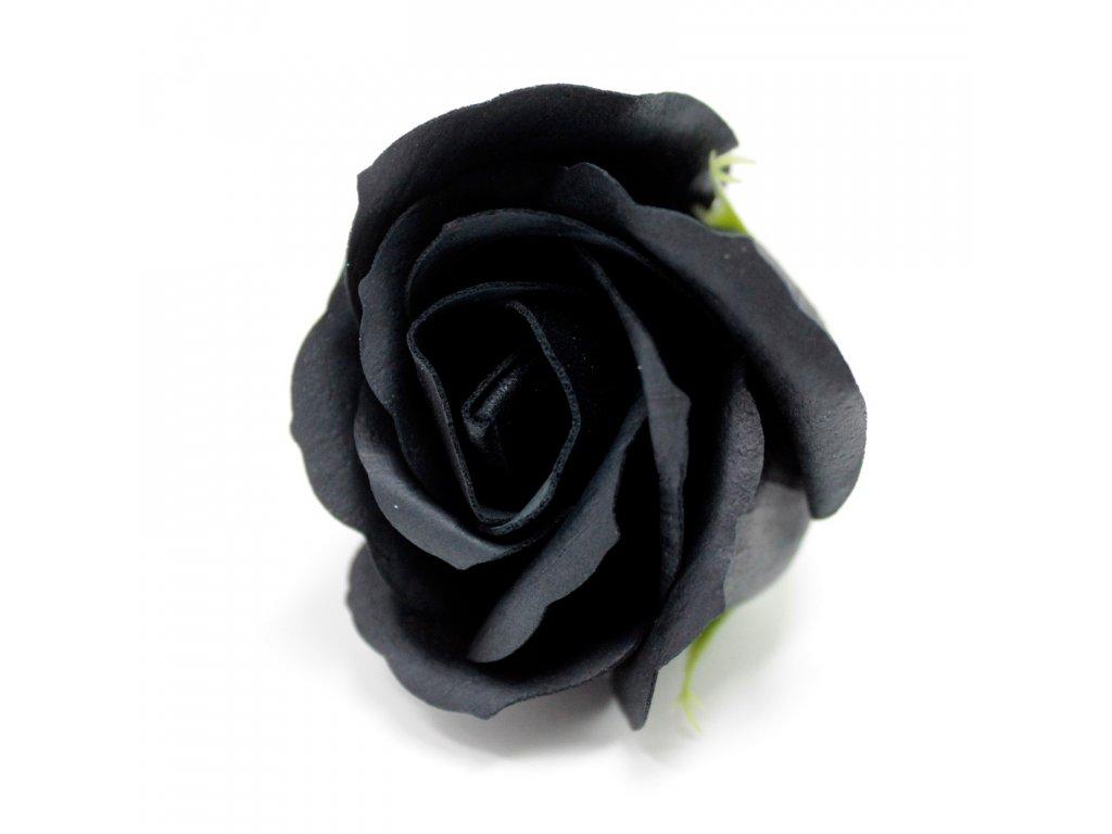 Mýdlová růže 1ks - černá