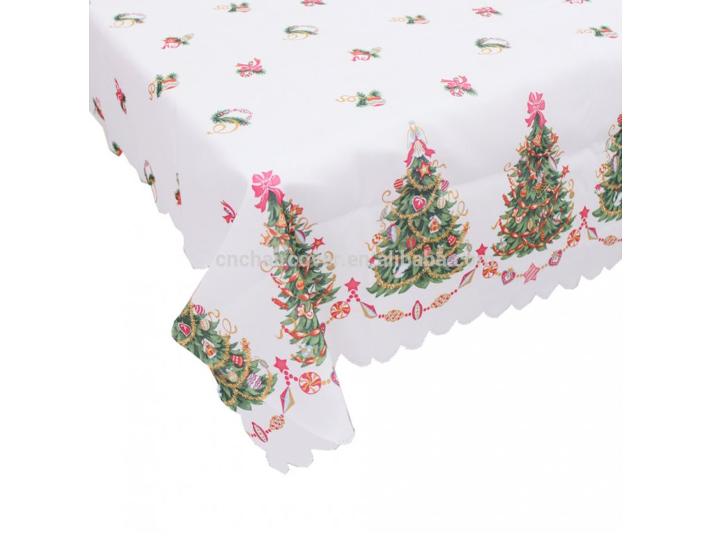 60 72inch Christmas Decorations Rectangular Tablecloth Prints2