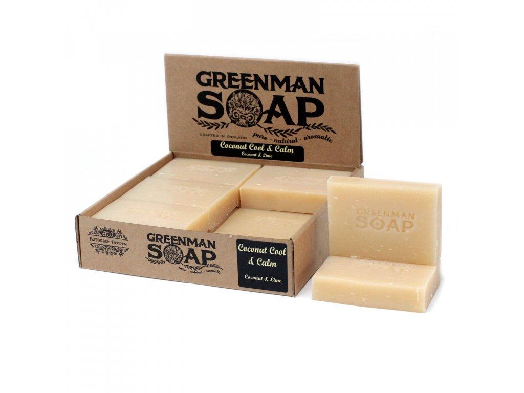 Greenman Mýdlo 100 g Svěží a Uklidňující Kokos