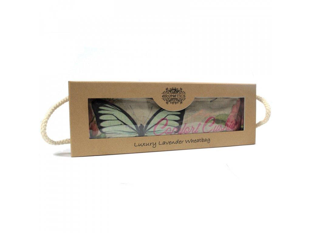 Levandulovo Pšeničný Terapeutický Polštář Motýl & Růže