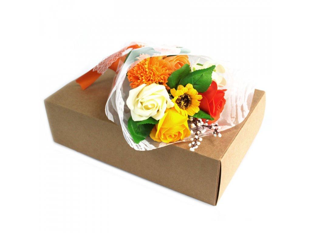 Mýdlová Kytice v Krabici Oranžová 1