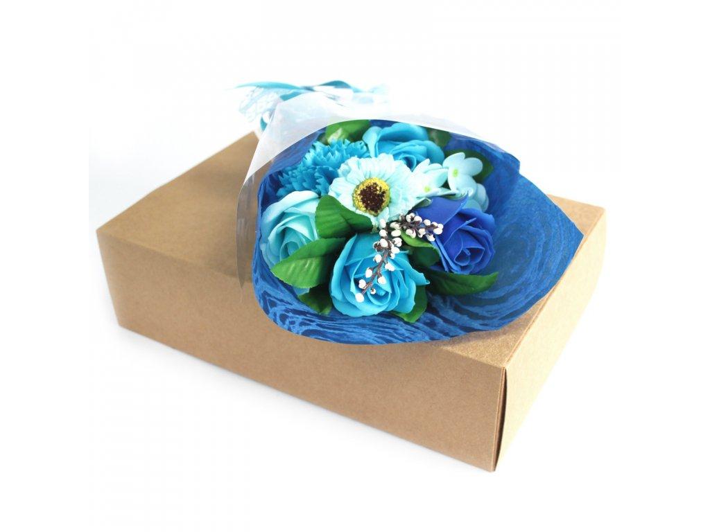 Mýdlová Kytice v Krabici Modrá 1