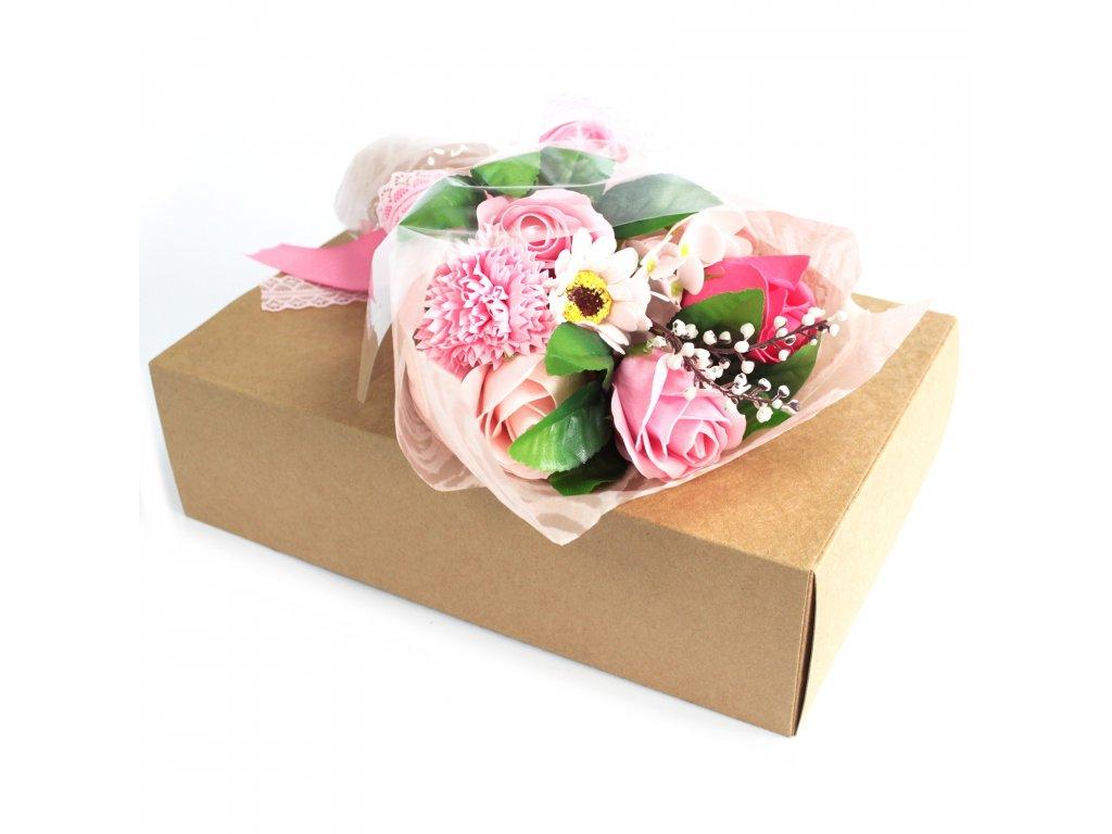 Mýdlová Kytice v Krabici Růžová 1